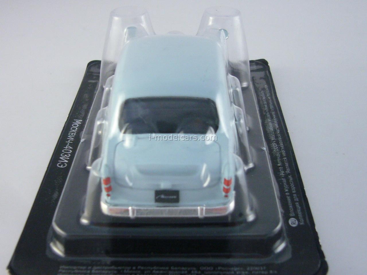 Moskvich-403IE blue 1:43 DeAgostini Auto Legends USSR #141