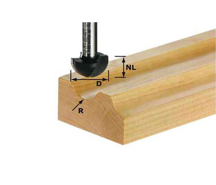 Фреза для изготовления желобка HW S8 R9,7 Festool 490986