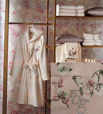 Элитный халат женский махровый Castadiva розовый от Blugirl